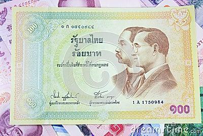 100 baht banknote Thai