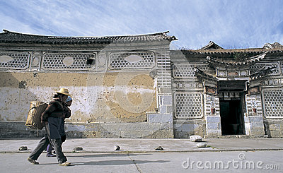 Bai  dwellings in southwest China Editorial Image