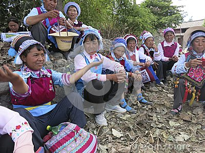 Bai Ethnic People in China Editorial Stock Image