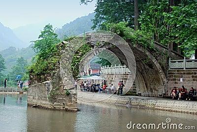 Bai Lu, China: Friendship Bridge Editorial Image