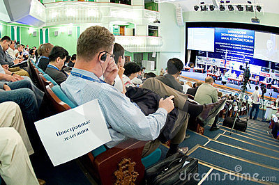 Baikal economic forum Editorial Stock Image