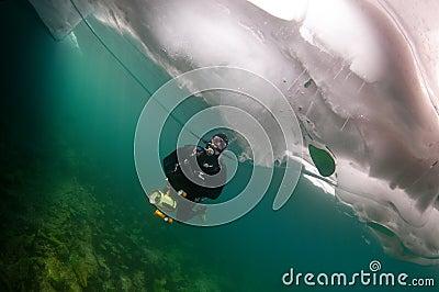 Baikal ice diver