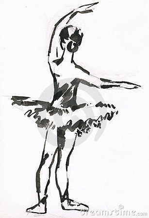 Bailarina preta da tinta