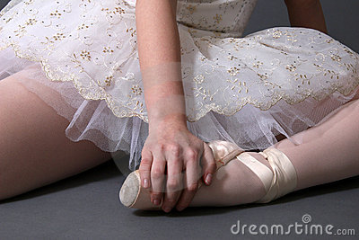 Bailarina que descansa na cor