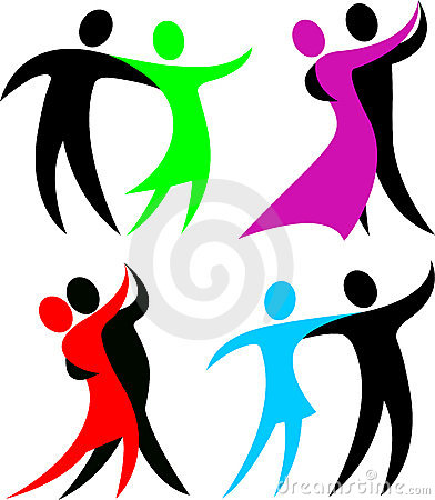 Bailarines abstractos del salón de baile