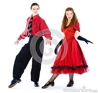 Bailarines de la Boogie-voogie