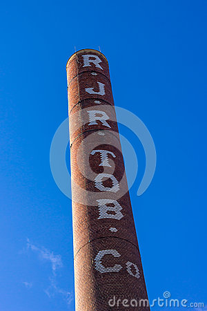 Free Bailey Power Factory Smoke Stack Stock Photography - 81349642