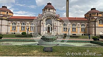 Bains minéraux centraux à Sofia banque de vidéos