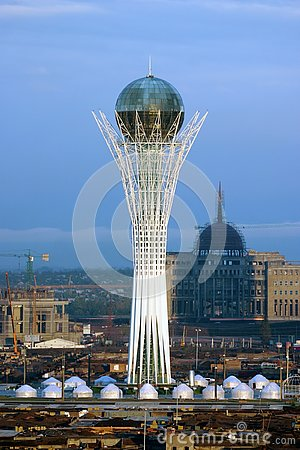 Baiterek tower in Astana city