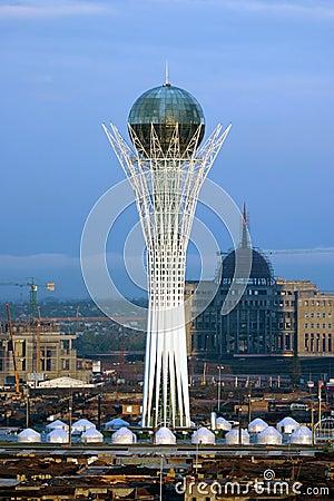 Baiterek tower in Astana city