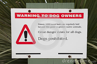 Baiting warning sign