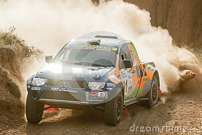 Baja Aragon 2013 Editorial Stock Photo
