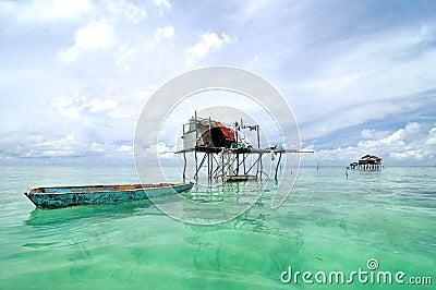 Bajau fisherman s village