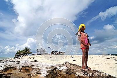 Bajau kid Editorial Stock Image