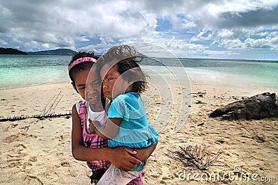 Bajau kids Editorial Stock Image