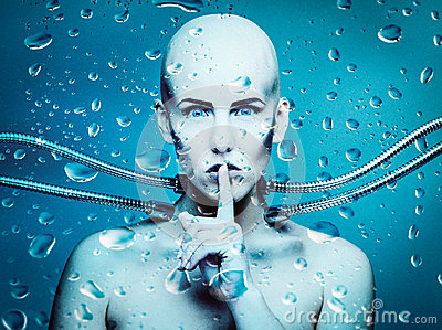 Bajo el agua androide