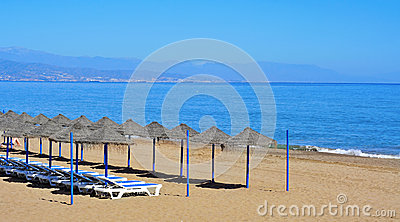 Bajondillo Beach in Torremolinos, Spain