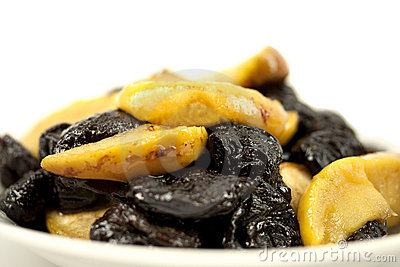 Baked apples and prunes