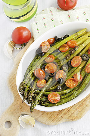 Free Baked Asparagus Stock Photography - 24716812