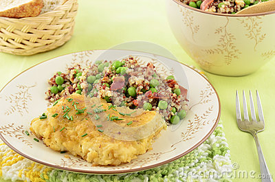 Baked cod with quinoa salad
