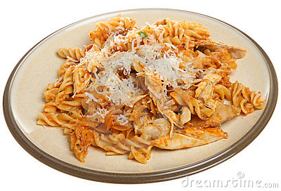 Baked Fusilli Pasta with Chicken