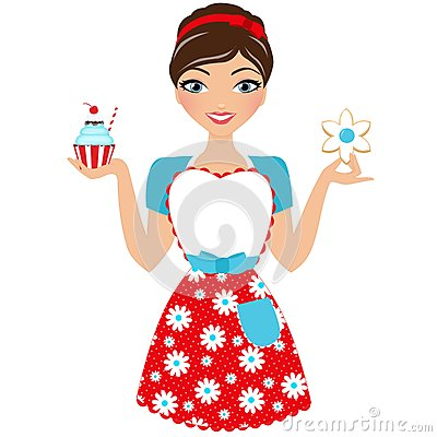 Baked goods woman