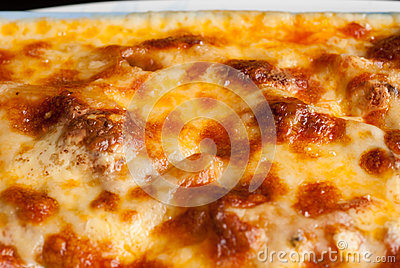 Baked Penne Pasta With Tomato Sauce And Cheese Stock Photo - Image ...