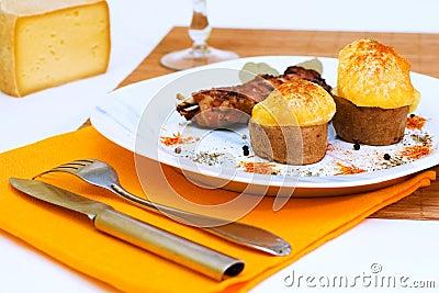 Baked Pork ribs with potato