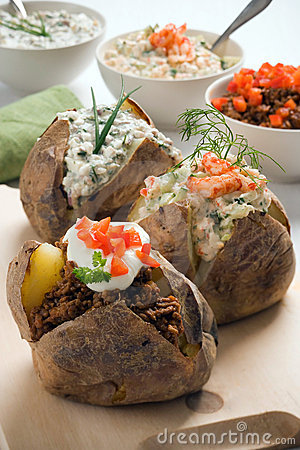 Free Baked Potato Royalty Free Stock Photo - 9440775