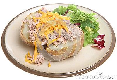 Baked Potato With Tuna Amp Cheese Stock Photo Image 15510100