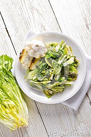 Baked Romaine lettuce