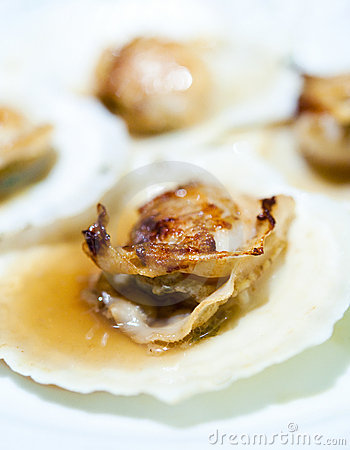 Baked Scallop