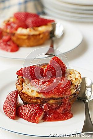 Baked Strawberry Ricotta Dessert