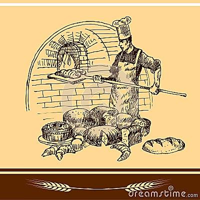 Baker holding baking pan