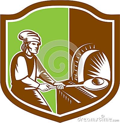 Free Baker Peel Bread Pan Shield Retro Stock Images - 44543504