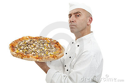 Baker of pizza