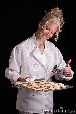 Baker Proud of Cookies