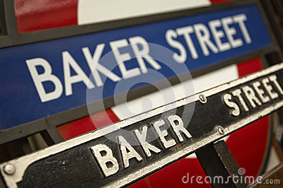 BAKER STREET tube station in the London Editorial Photo