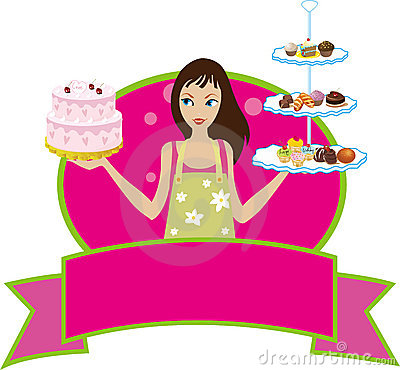Free Bakery Baker Pastry Chef Girl Woman Diva Stock Image - 10415501