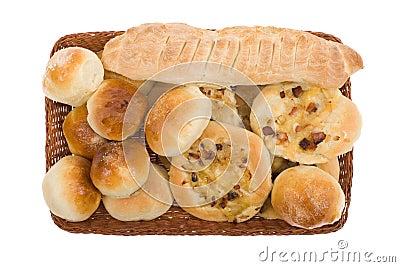 Bakery goods in basket