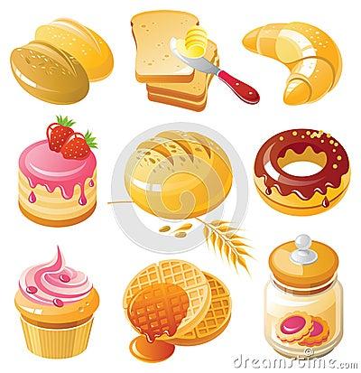 Free Bakery Icon Set Royalty Free Stock Photos - 11523598