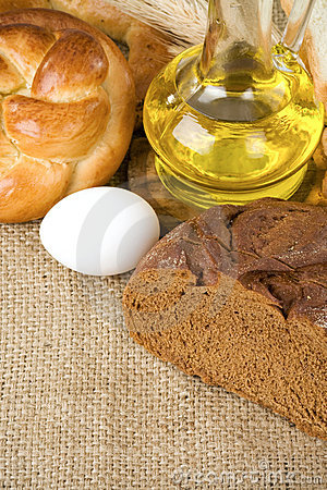 Bakery products and grain