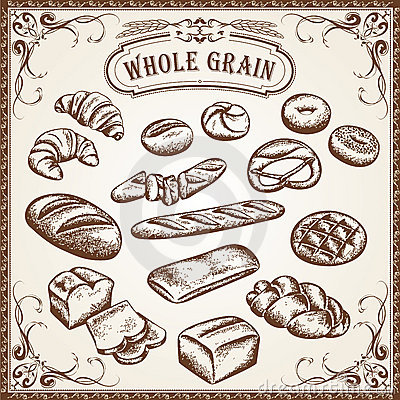 Bakery Set Whole Grain Royalty Free Stock Photography - Image: 22889727
