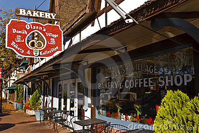 Bakery, Solvang, California Editorial Photography