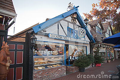 Bakery, Solvang, California Editorial Stock Image