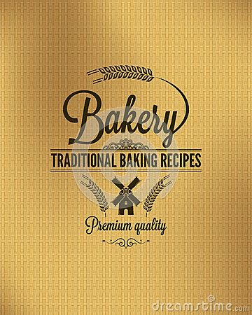 Free Bakery Vintage Bread Label Background Royalty Free Stock Images - 34802479