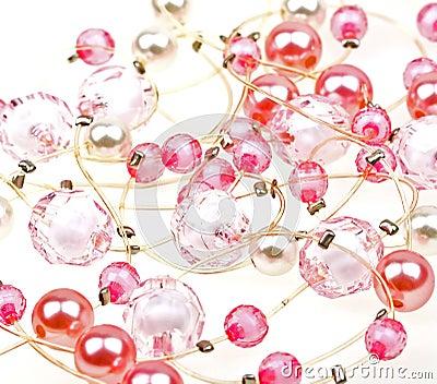 Bakgrund beads härlig tät rad till upp