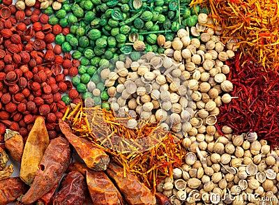 Bakgrund blandad krydda