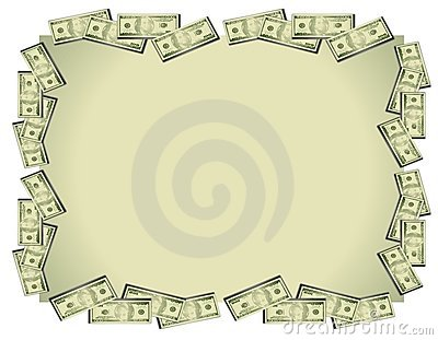Bakgrund fakturerar dollarpengar
