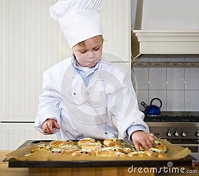 Baking boy